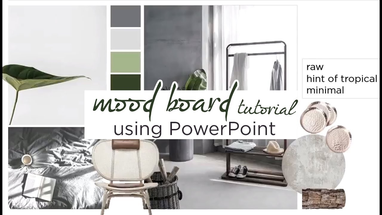 How To Create An Interior Design Mood Board Using Powerpoint Tutorial Aseelbysketchbook Youtube