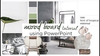 how to: Create an Interior Design Mood Board Using Powerpoint  Tutorial  aseelbysketchbook