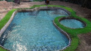 Unbelievable! The men Can Build Beautiful Swimming Pool Only 3 day