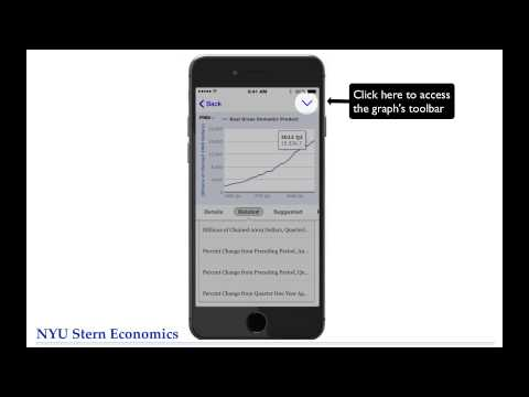 NYU Stern Economics FRED Tutorial #11: FRED Mobile App