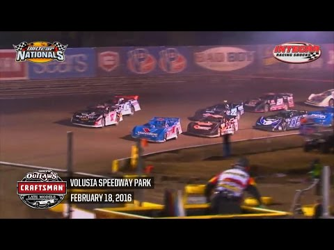 Highlights: World of Outlaws Craftsman Late Model Series Volusia Speedway Park February 18th, 2016