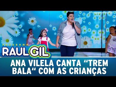 Ana Vilela puxa criança para cantar o sucesso Trem Bala  Programa Raul Gil 090917