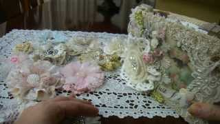 """""""Lace book and flowers""""  for Karen- ZucchiniKitty"""