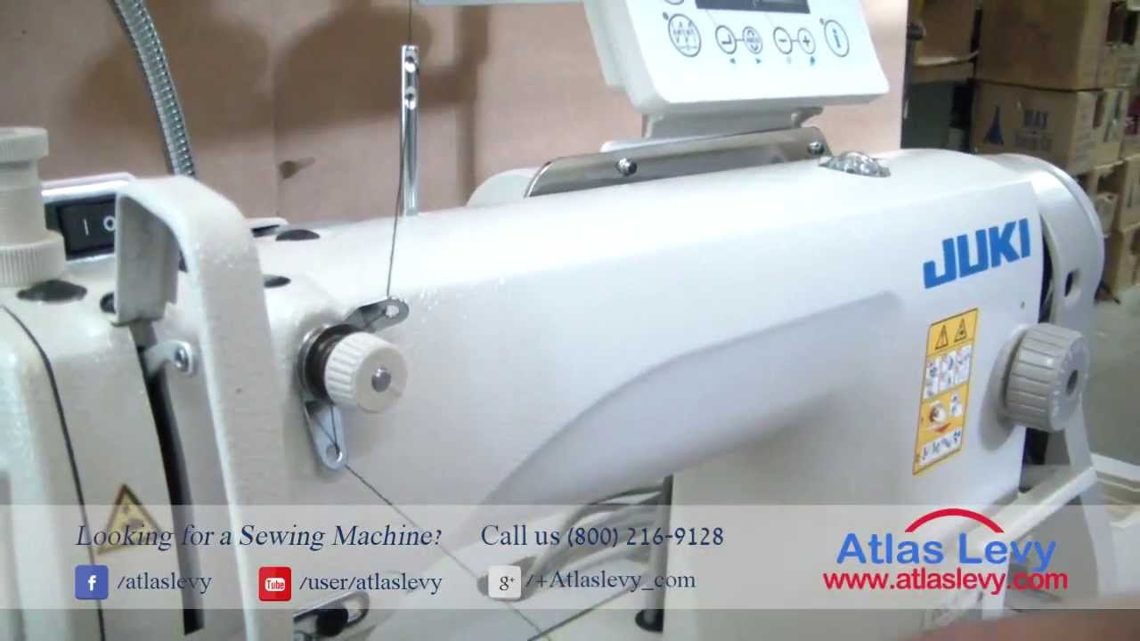 thread the JUKI DDL 8700- 7 Industrial Sewing Machine - YouTube