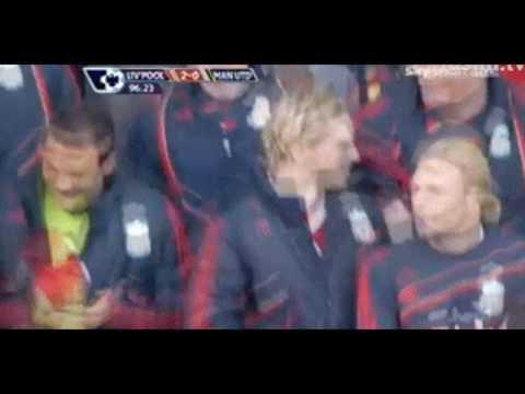 Fernando Torres Reaction at Man Utd Goal  ||HD||