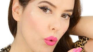 Easy Summertime Pink Makeup Tutorial - Pin Up Inspired