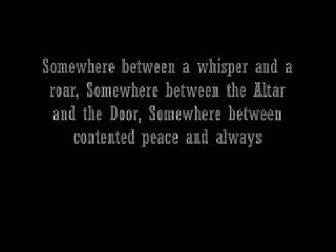 Casting Crowns Somewhere in the Middle (w/ lyrics)