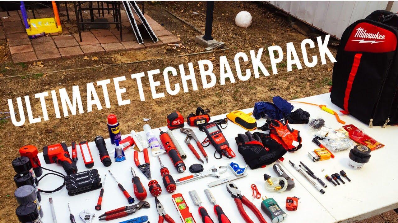 ae053bb1f2f8 Milwaukee Ultimate Tech Backpack - YouTube