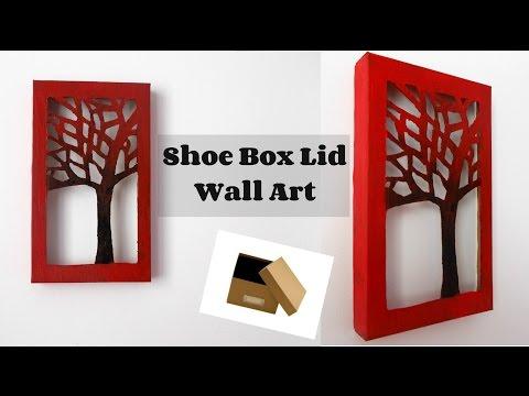 DIY Room Decor: Shoe Box Lid Wall Art | Wall decor | DIY crafts | DIY paper crafts | Maison Zizou