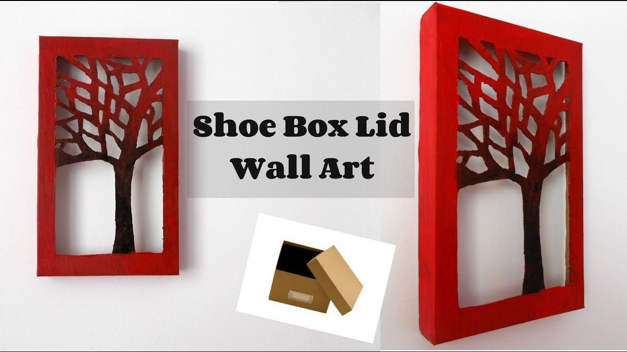 30 Shoe Box Craft Ideas: DIY Room Decor: Shoe Box Lid Wall Art