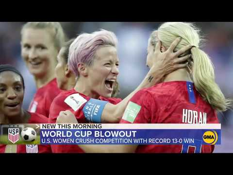 US women rout Thailand 13-0 at  FIFA World Cup