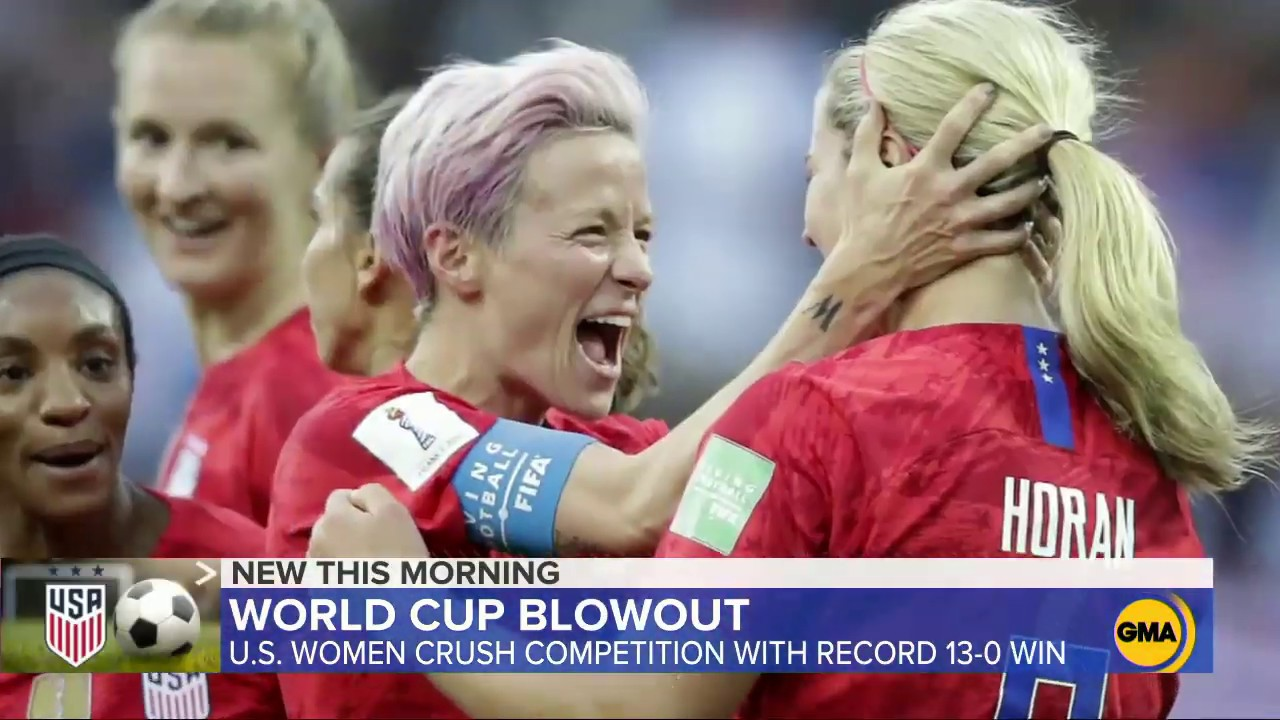 ABC News:US women rout Thailand 13-0 at World Cup