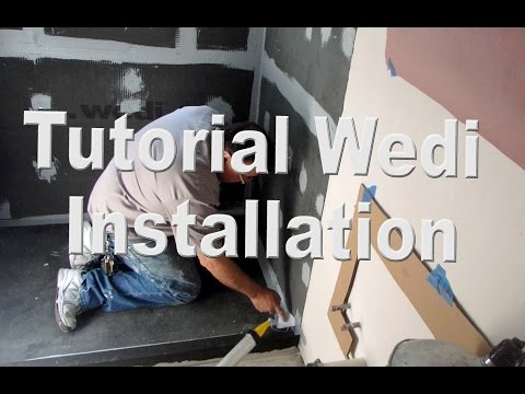 Step by Step How to Build a Walk-In Shower Wedi system