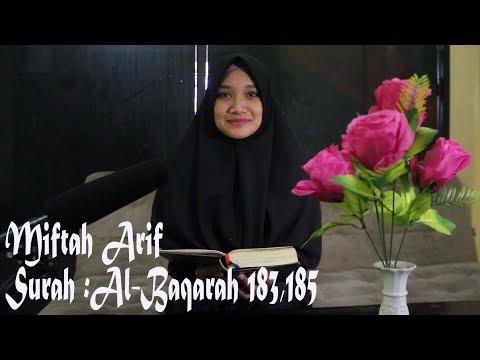 Miftah Arif Surah Al Baqarah  Ayat 183 & 185