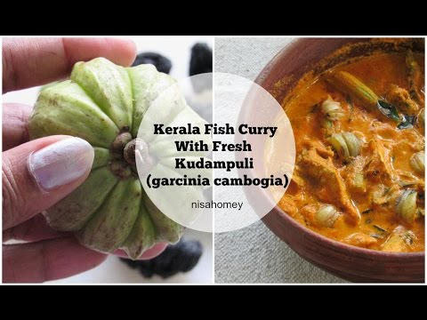 Kerala Fish Curry With Fresh Kudampuli (Garcinia Cambogia) - Meen Curry With Coconut & Drumsticks