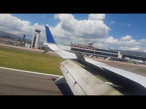 Llegando a  Tegucigalpa (toncontin)