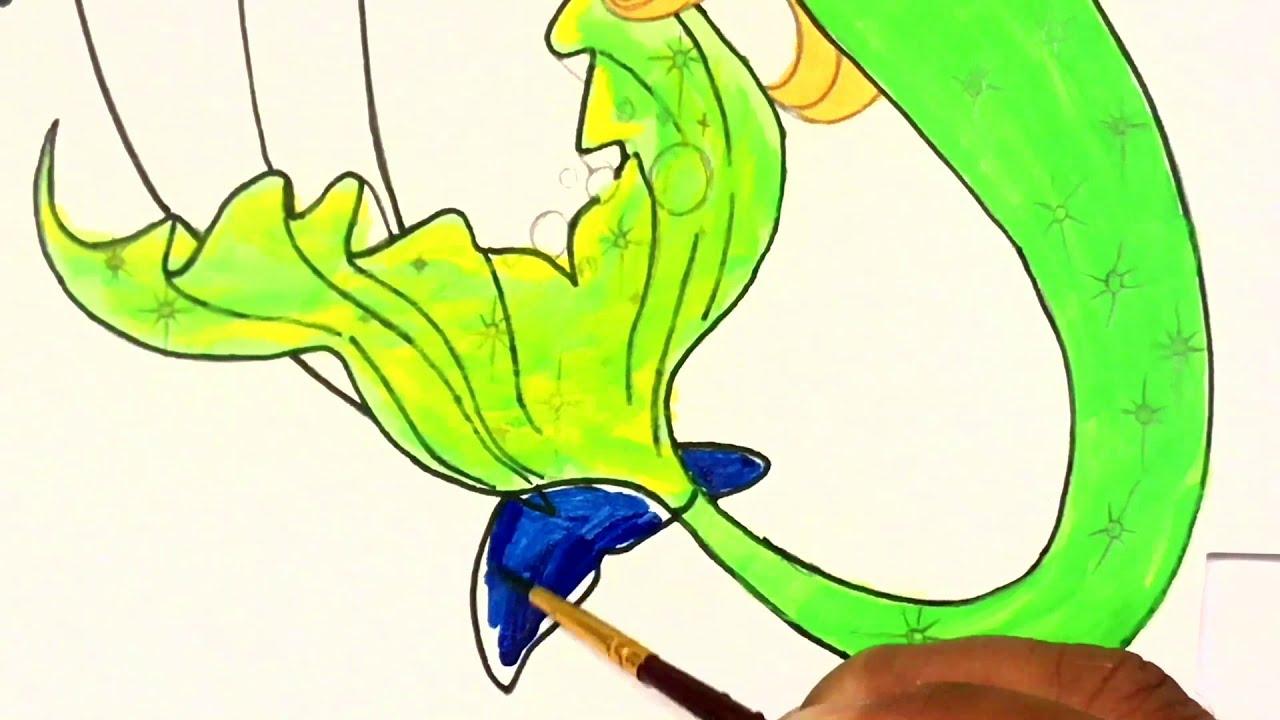 Coloring For Kids Mermaid - Hd Football | 720x1280