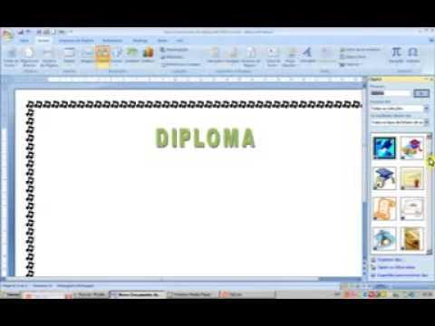 WORD 2007 Criar um Diploma em word - YouTube