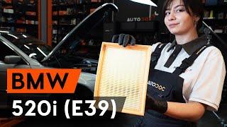 Kā nomainīt Gaisa filtrs BMW 5 (E39) - tiešsaistes bezmaksas video