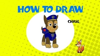 How to draw Chase from Paw Patrol - Learn to Draw - ART LESSONS