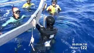 צלילה חופשית ל-120 מטר בנשימה אחת. סיפור של שיא ישראלי.
