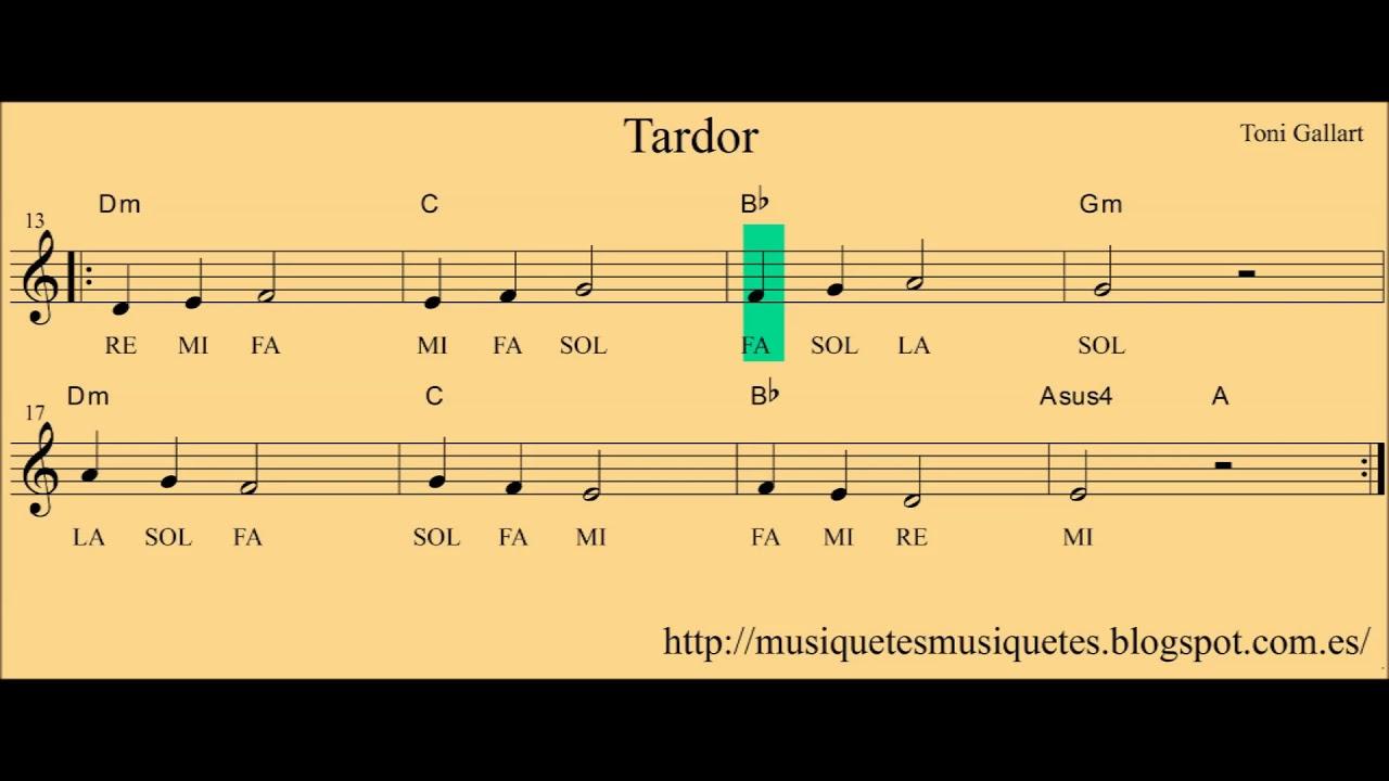 Tardor. Partitura flauta + playalong (C instrument, guitarra, violí...)