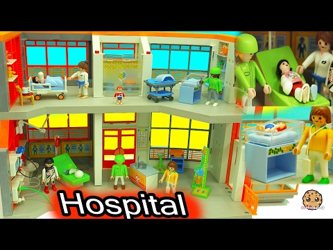 Broken Leg + Baby Gets A Shot From Doctor At Children's Medical Hospital Playmobil Video