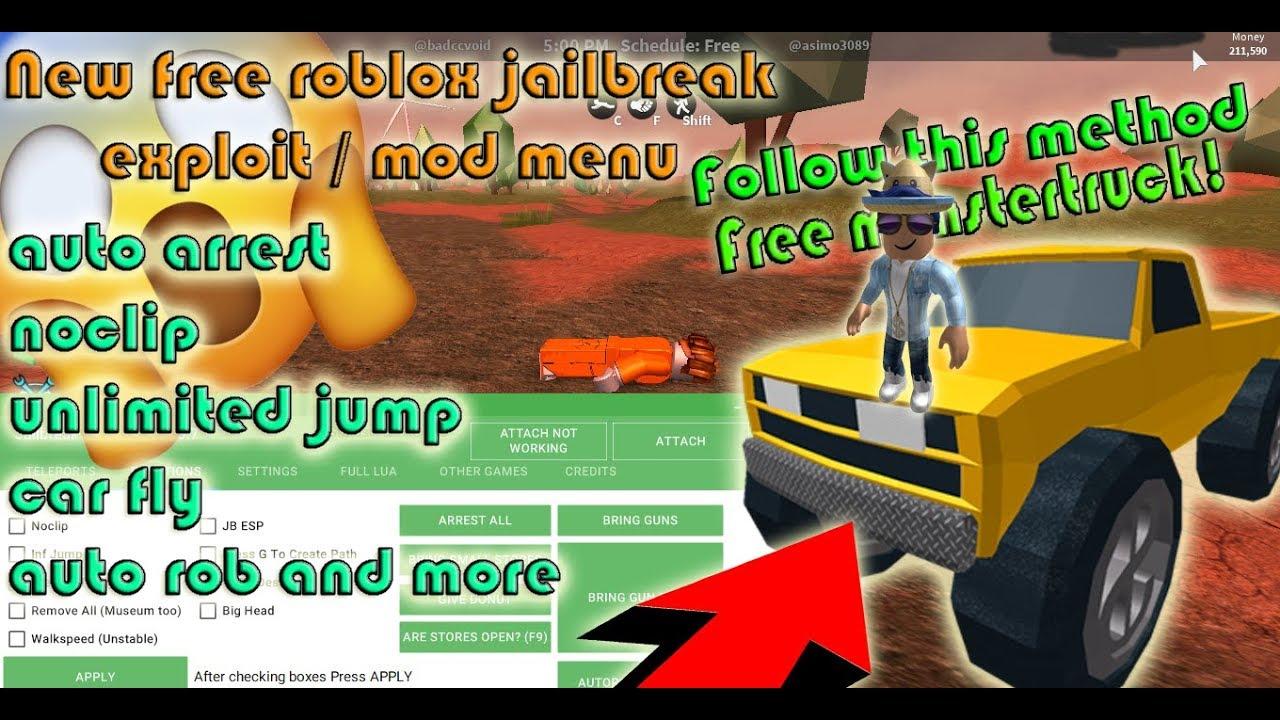 Roblox Jailbreak Mod Menu Download Youtube