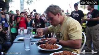 World Record Most Pulled Pork Eaten in 6 Minutes (7+lbs) (Must See!!!)