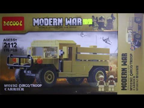 LEGO Swat Modern War M1064A0 Cargo Troop Carrier DeCool Bootleg Review