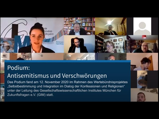Podium: Antisemitismus und Verschwörungen, 12. Nov. 2020