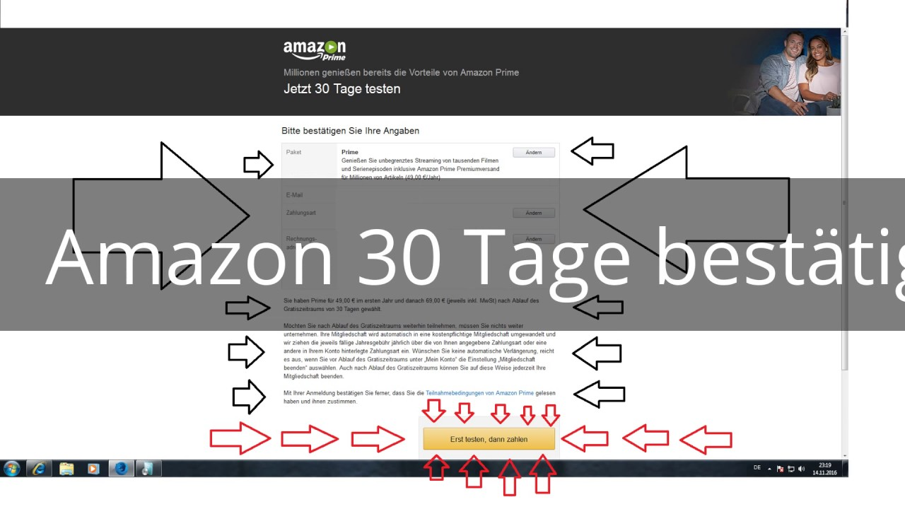 Amazon Prime 30 Tage Testen K�Ndigen