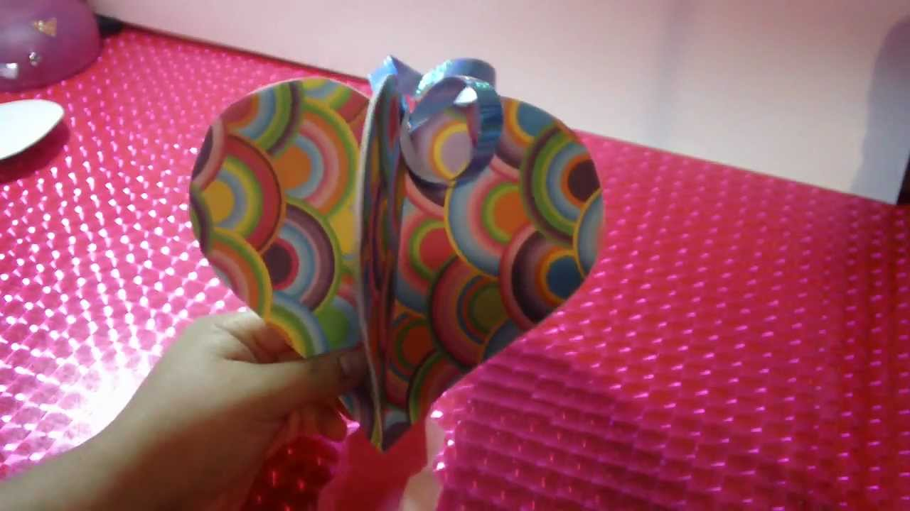 Movil de corazon 3d manualidades para san valentin facil youtube Adornos san valentin manualidades