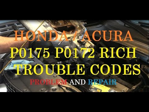 Acura Running Rich Repair - Trouble codes P0175 P0172 ...