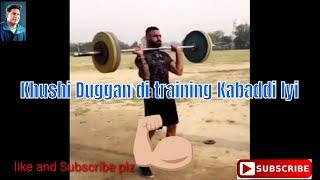 Khushi duggan Training s 2019