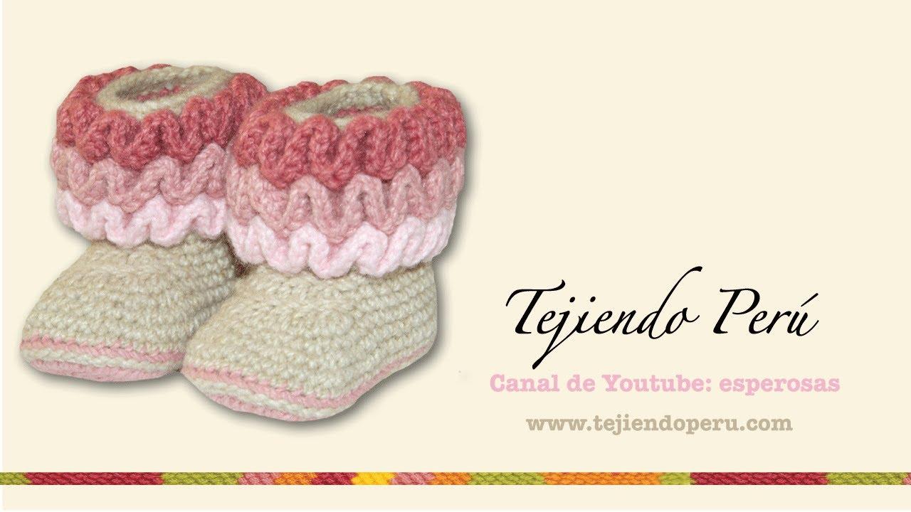 Botas con ondas para bebés tejidas en wiggle crochet (wiggle crochet ...