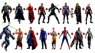 Combining 16 AVENGERS into ONE CHARACTER! CRAZY CHARACTER FUSION!