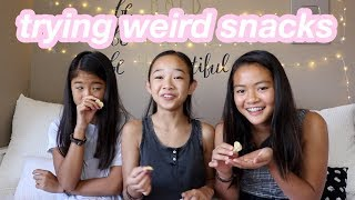TRYING WEIRD SNACKS WITH MY BESTIES | Nicole Laeno