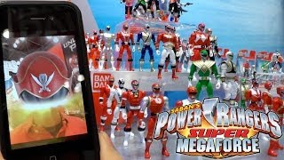 Super Megaforce Power Rangers, Legacy Morpher, Dragon Dagger, Titanus and Green Dragon Zords