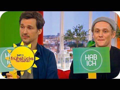 Florian David Fitz und Matthias Schweighöfer  intime Geständnisse  SAT.1 Frühstücksfernsehen