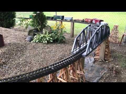 Young's Junction Outdoor G Scale Railroad in Poland, OH  8/6/2017
