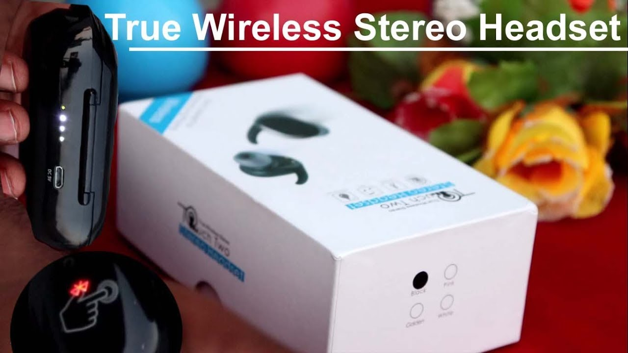 Cheap & Best True Wireless Bluetooth Stereo Headset Earbuds by Touch Two