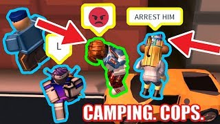 WHY ARE THERE SO MANY CAMPING COPS??!! | Roblox Jailbreak