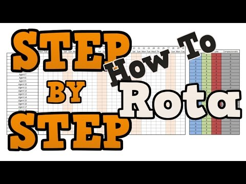 STAFF ATTENDANCE SHEET: HOW TO CREATE A SIMPLE ROTA FOR