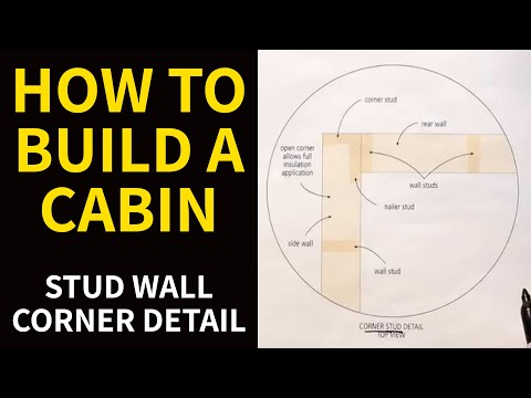 how to build a cabin stud wall corner detail youtube. Black Bedroom Furniture Sets. Home Design Ideas