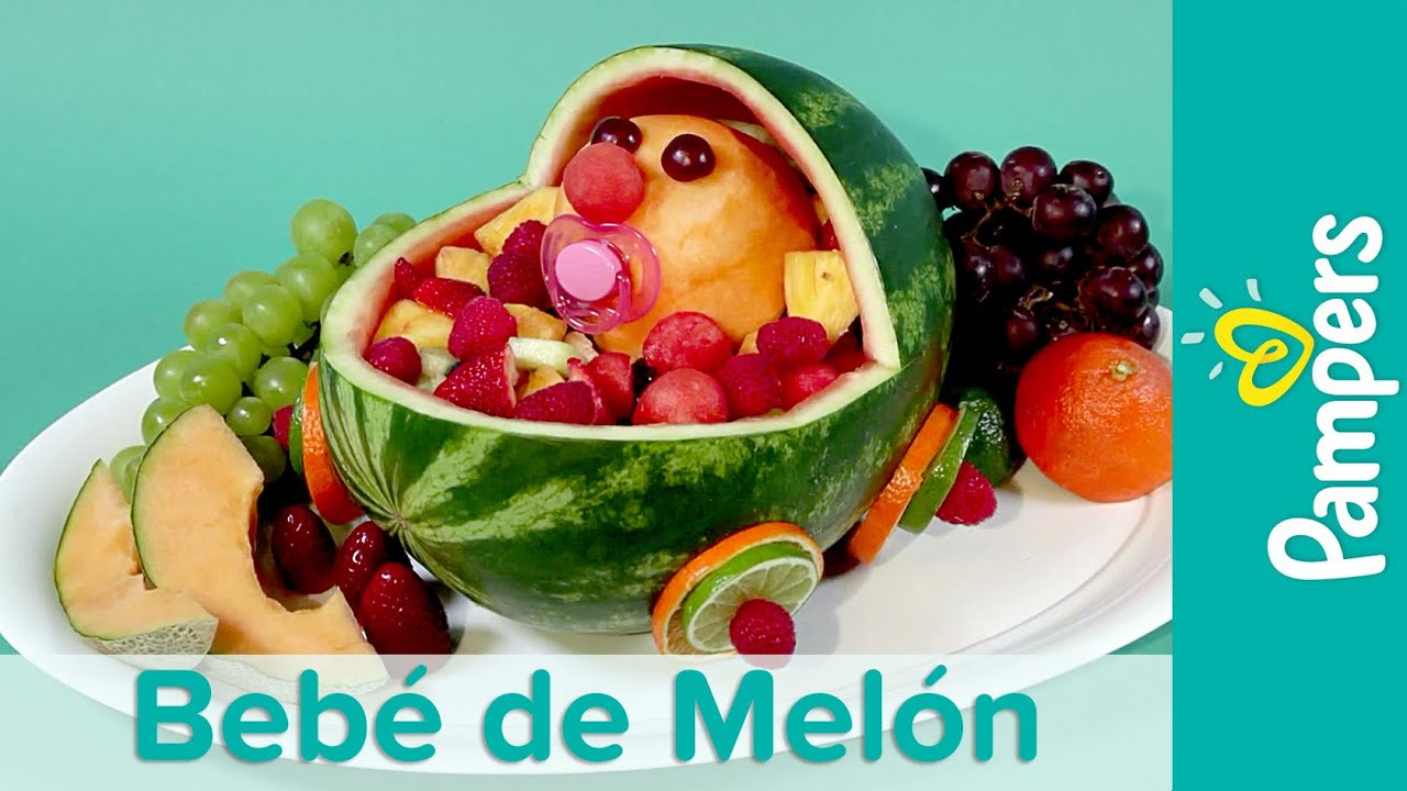 DIY Comida Para Baby Shower: Bebé Melón | Pampers   YouTube