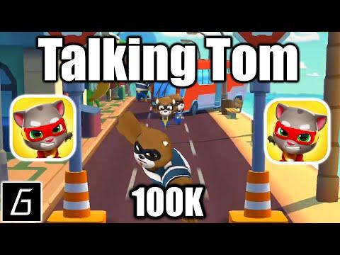 Talking Tom Hero Dash Run Game - Gameplay - New Highscore (100K) - (iOS - Android)