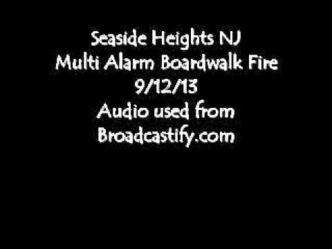 Seaside Heights NJ Boardwalk Fire 9/12/13