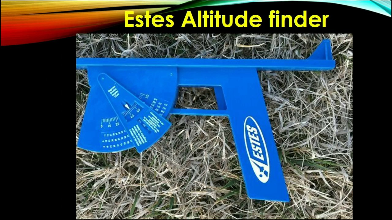 Estimating The Height Of A Model Rocket Using The Estes Altitrack - Altitude finder