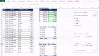 Office 2013 Class #22: Excel Basics 04: PivotTables Are Easy! SUMIFS or PivotTable for Region Report thumbnail